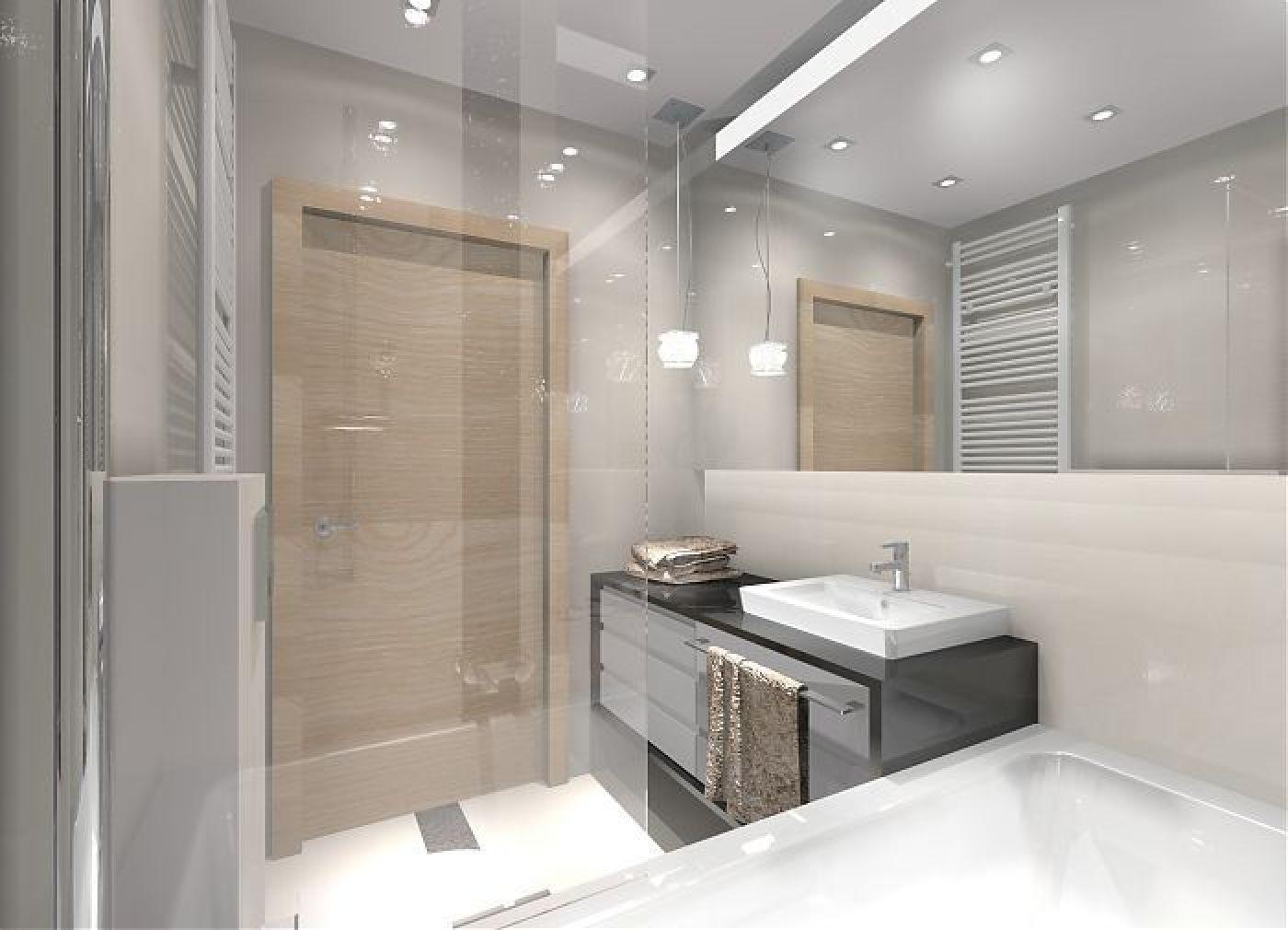Projekt małej łazienki - architekt wnętrz