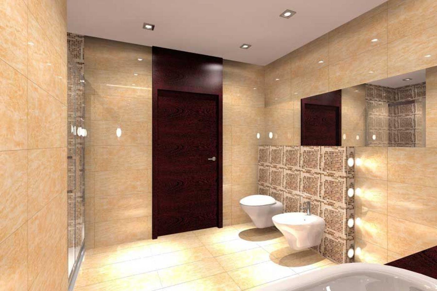 Projekt łazienki - marmur - architekt wnętrz